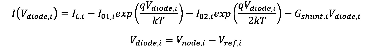 Equation: Solar Cell Equivalent Circuit
